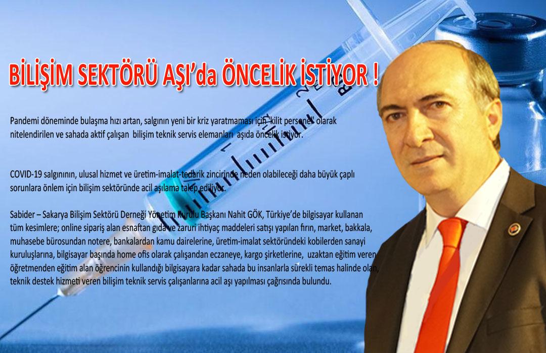 BİLİŞİM SEKTÖRÜ AŞI'da ÖNCELİK İSTİYOR !